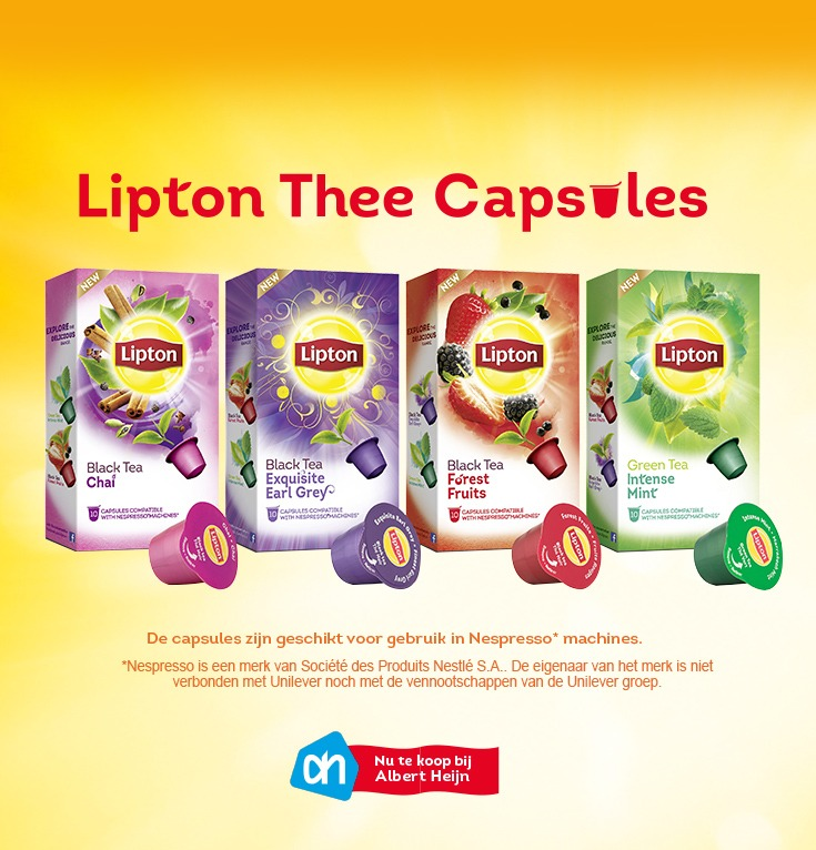 probeer lipton thee capsules. Black Bedroom Furniture Sets. Home Design Ideas