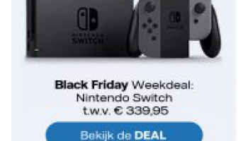 Gratis Nintendo Switch twv €339,95 Black Friday Weekdeal