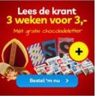 Gratis HEMA chocoladeletter en gratis 3 weken krant