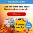 4 Weken de krant naar keuze voor €4, stopt vanzelf!