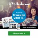 8 Weken de Volkskrant voor €4 (stopt automatisch!)