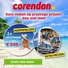 Win een gratis reischeque t.w.v. € 250 van Corendon