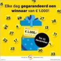Elke dag gratis kans op €1.000! (t/m 31 december)