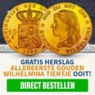 Gratis Gouden Wilhelmina 1892 Tientje