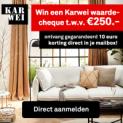 Gratis Karwei cadeaubon (€10) + kans op cadeaukaart (€250)