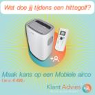 Doe de enquête en maak kans op een gratis mobiele airco twv €499
