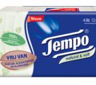 Test gratis Tempo Natural & Soft zakdoekjes