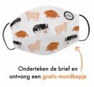 Gratis World Animal Protection mondkapje