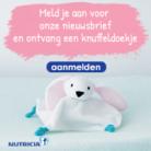 Gratis konijn knuffel bij inschrijving nieuwsbrief Nutricia