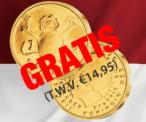 Gratis 'De laatste gulden' 24 karaat verguld