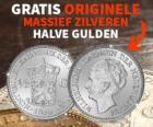 Gratis originele massief Zilveren Halve Gulden uit 1930!