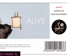 Gratis sample Hugo Boss Alive + sleutelhanger