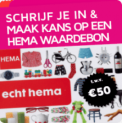 Gratis samples, folders én kans op HEMA bon (€50)