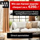 Meld je aan voor de nieuwsbrief en win 250 euro