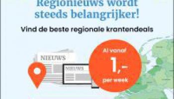 Regionale kranten vanaf €1 per week (incl. gratis bezorging)