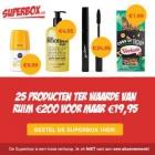 25 producten t.w.v. € 200 voor maar € 19,95!