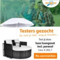Test gratis Luxe Loungeset t.w.v. € 243