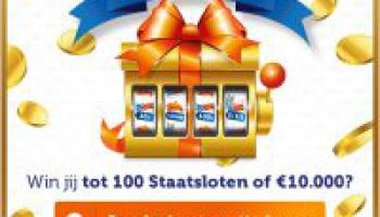 Draai & Win tot 100 Staatsloten of €10.000 netto   Altijd prijs!