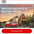 Win een gratis vakantie in een Tiny House t.w.v. €1.500! (x3)