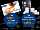 Black Friday GAMMA: win shoptegoed (3*€100) of Philips Hue (*3)
