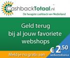 Hoogste cashback met Cashbacktotaal + €2,50 aanmeldbonus!