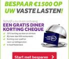 Gratis Restaurant korting cheque!