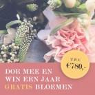 Win een jaar lang gratis bloemen t.w.v. € 780