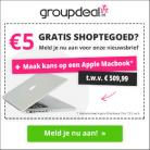 Gratis € 5 shoptegoed + winactie Macbook
