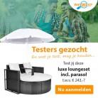 Gratis testen en houden: luxe loungeset met parasol