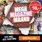 Mega Magazine Maand: alle tijdschriftabonnementen €10!