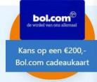 Kans op gratis Bol.com cadeaukaart t.w.v. € 200