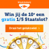 Win gratis 1/5 Staatslot!