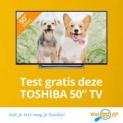 """Test een gratis Toshiba 50"""" TV (testen=houden!)"""