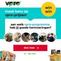 Win gratis unieke VPRO cadeaus!